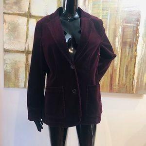 GAP Velvet Plum Buttoned Blazer Size 12